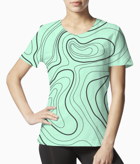 Abstract art 3 tee front