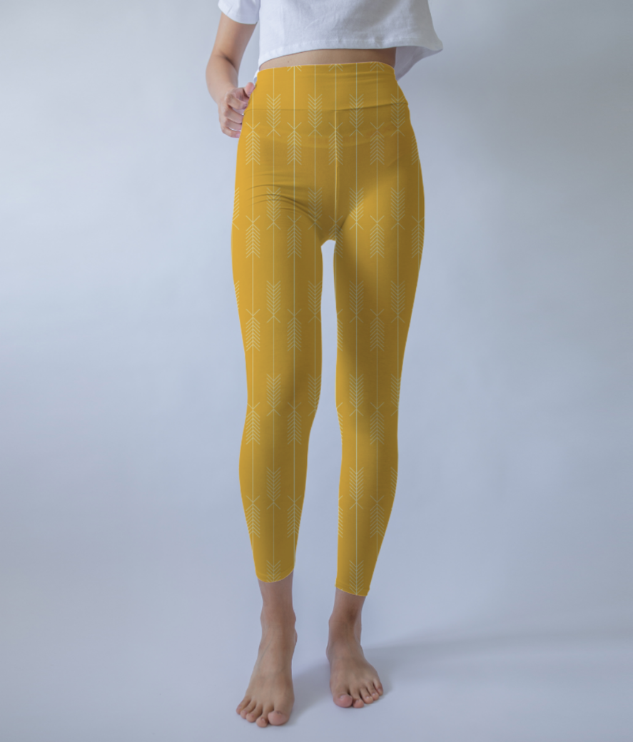 Arrows yellow leggings front