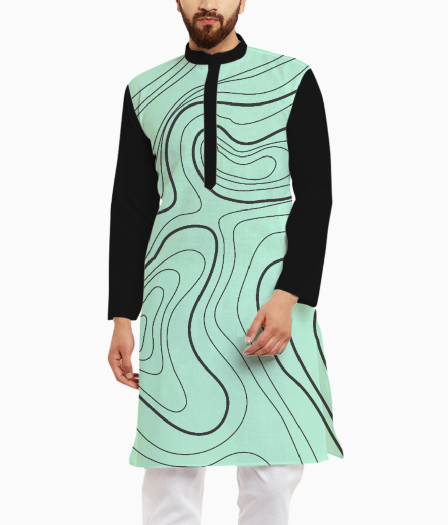 Abstract art 3 kurta front