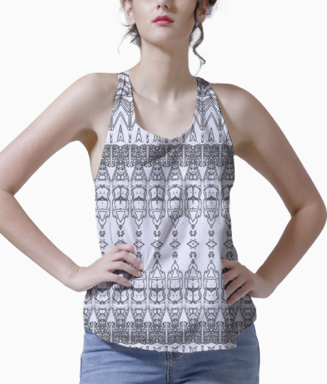 Abstract bullet orange tank front