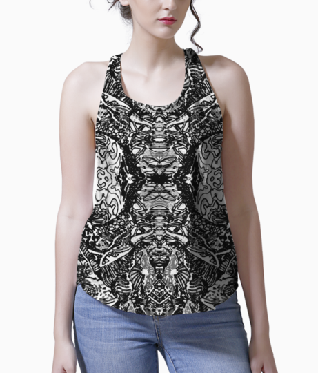 Abstract doodle tank front