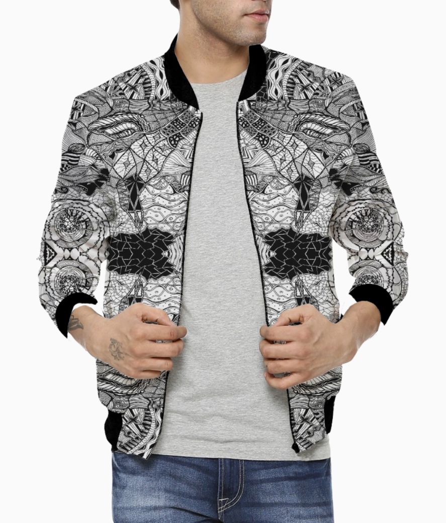 Abstract lines bomber front