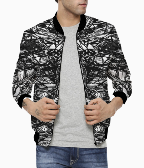 Abstract pink trip bomber front