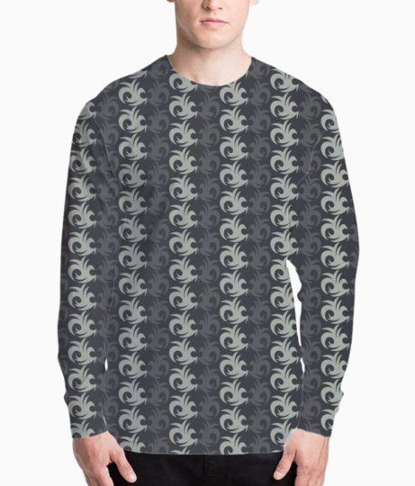 Abstract design seamless pattern background henley front