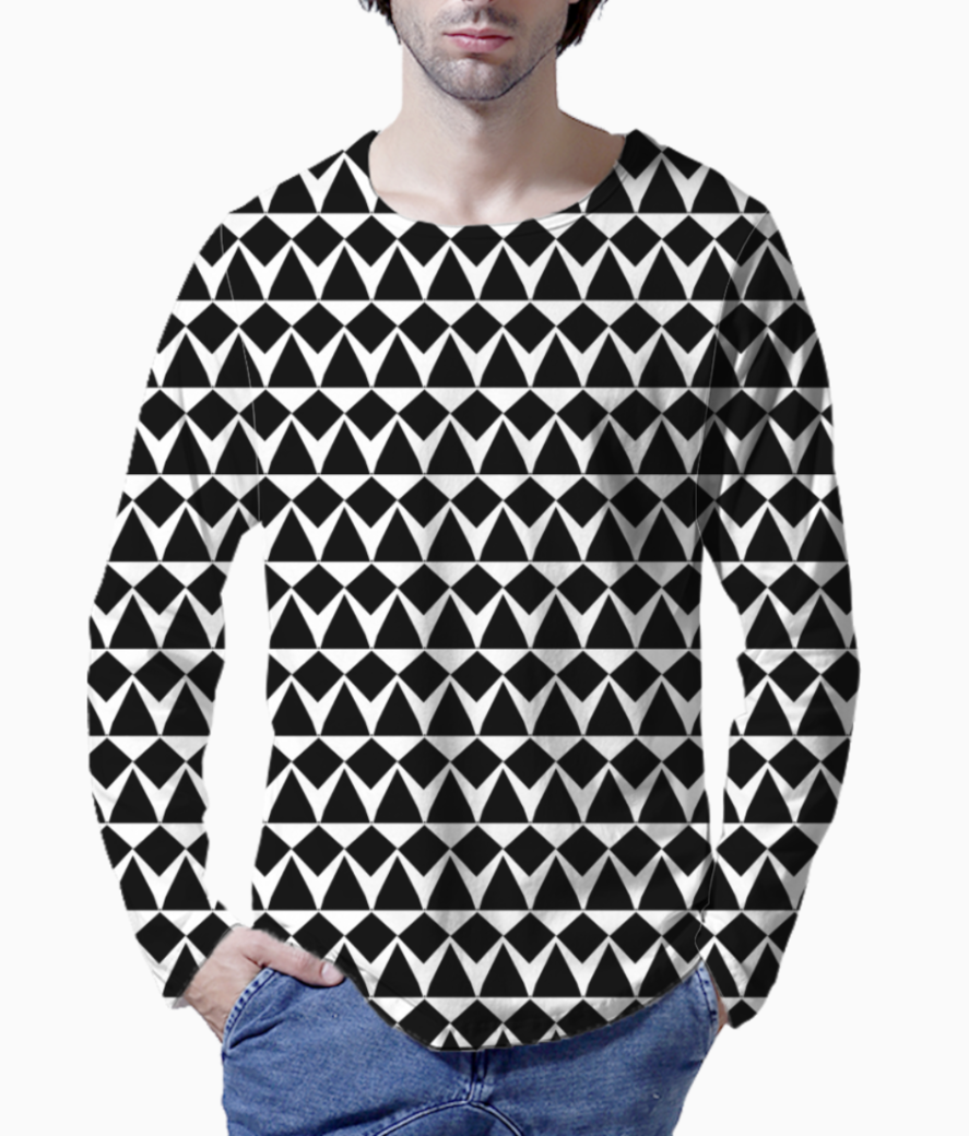 Ancient tribe seamless pattern background henley front