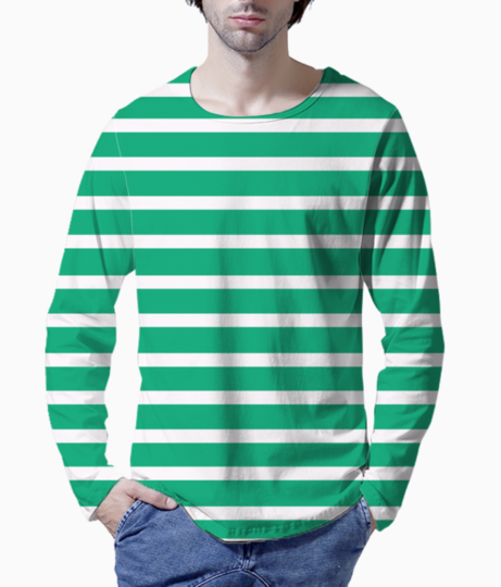 Persian stripes henley front