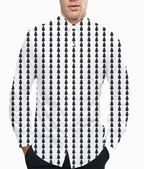 Abstract black white seamless pattern background basic shirt front