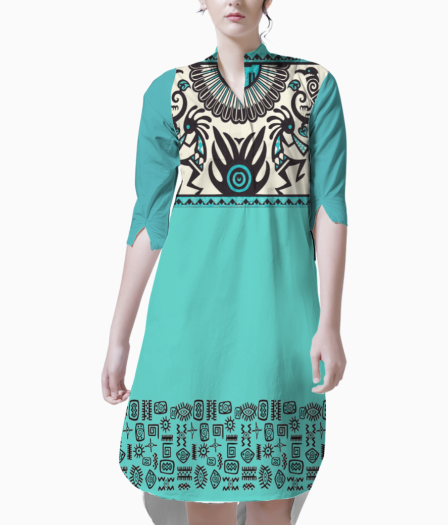 Music and dance kurti front