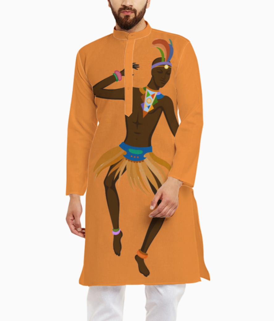 Dancing is normal kurta front