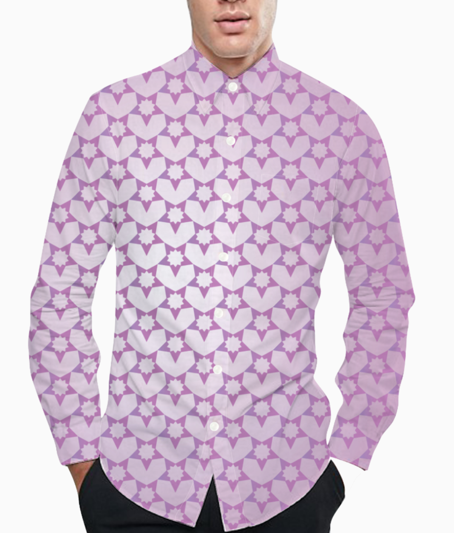 Decorative pink color pattern background basic shirt front