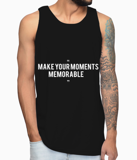 Make your moments memorable  white vest front