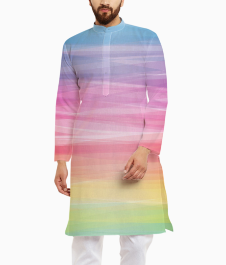 Pastel colorful smooth lines iphone 5 wallpaper kurta front