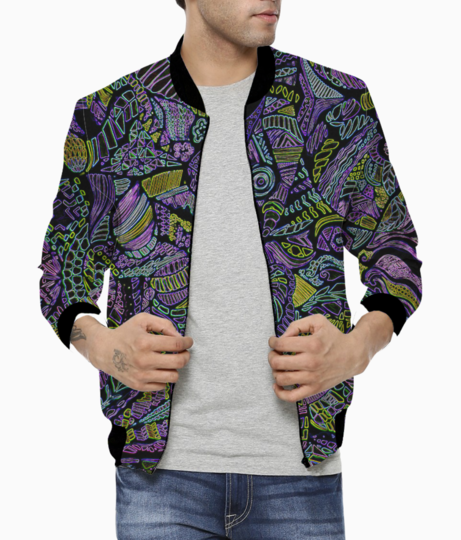 Purple max bomber front