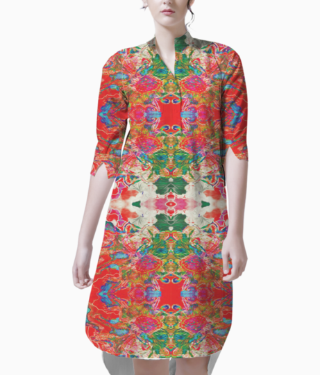 Red white dream 2 kurti front