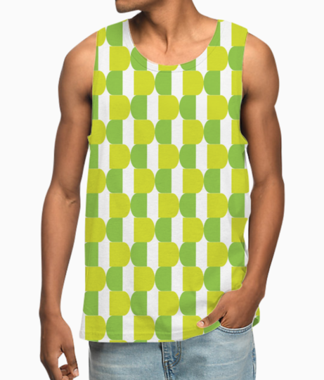 Green seamless pattern vest front