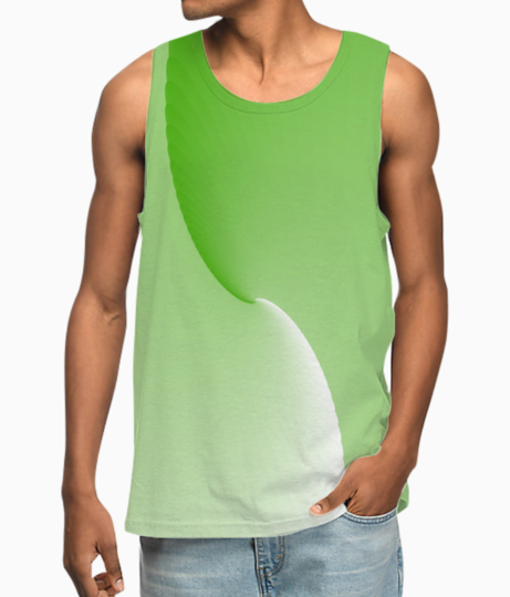 Green abstract vest front