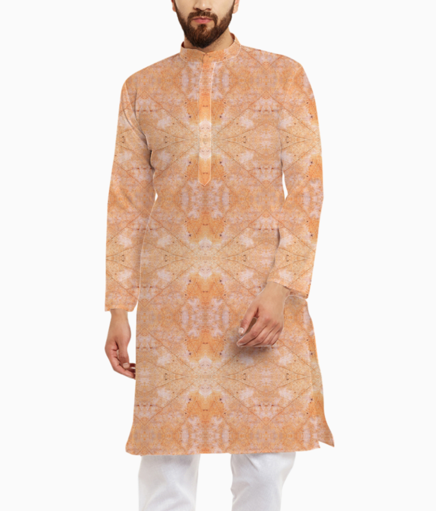 Abstract leaves kurta front