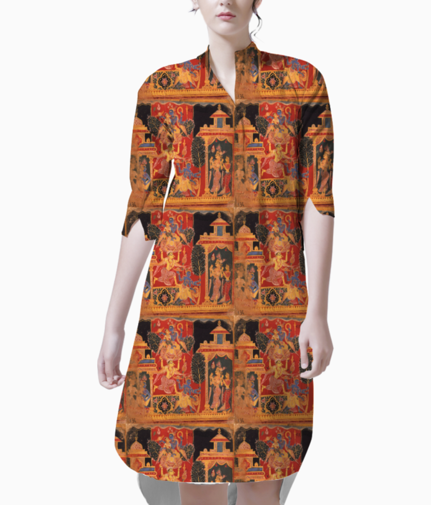 Ancient art kurti front