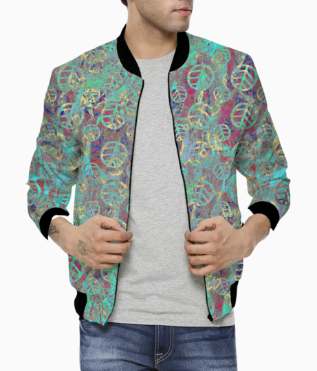 Mint leaves bomber front