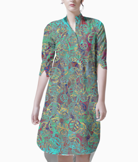 Mint leaves kurti front