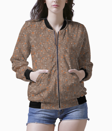 Brown bliss bomber front
