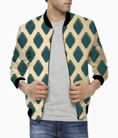 Golden ethnic art bomber front