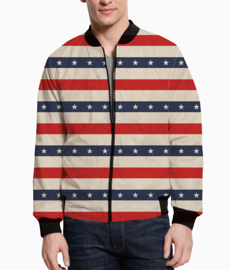 Patriotic pattern bomber front