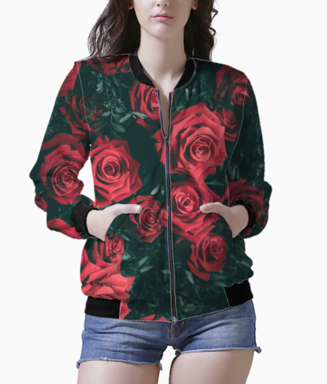 Rosy rose bomber front