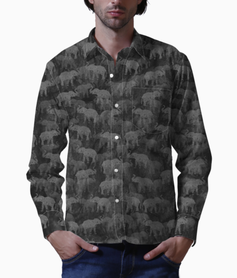 Elephants basic shirt front
