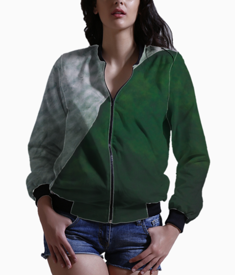 Green ash bomber front