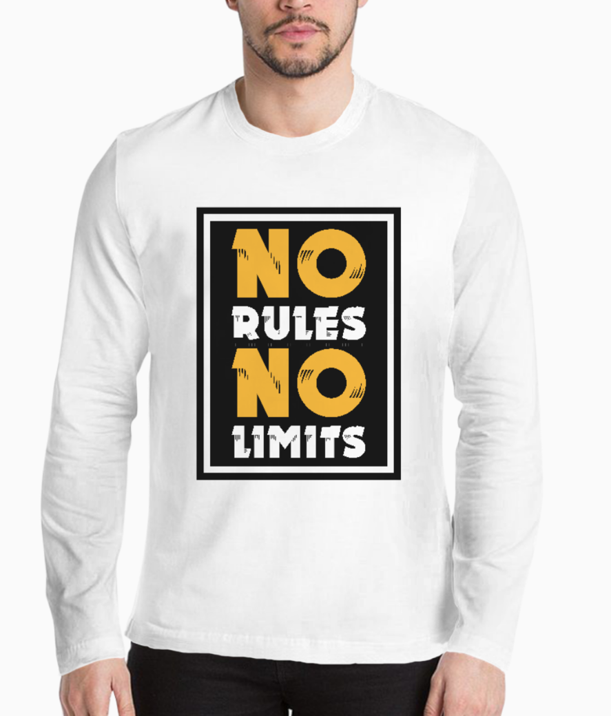 No rules no limits henley front