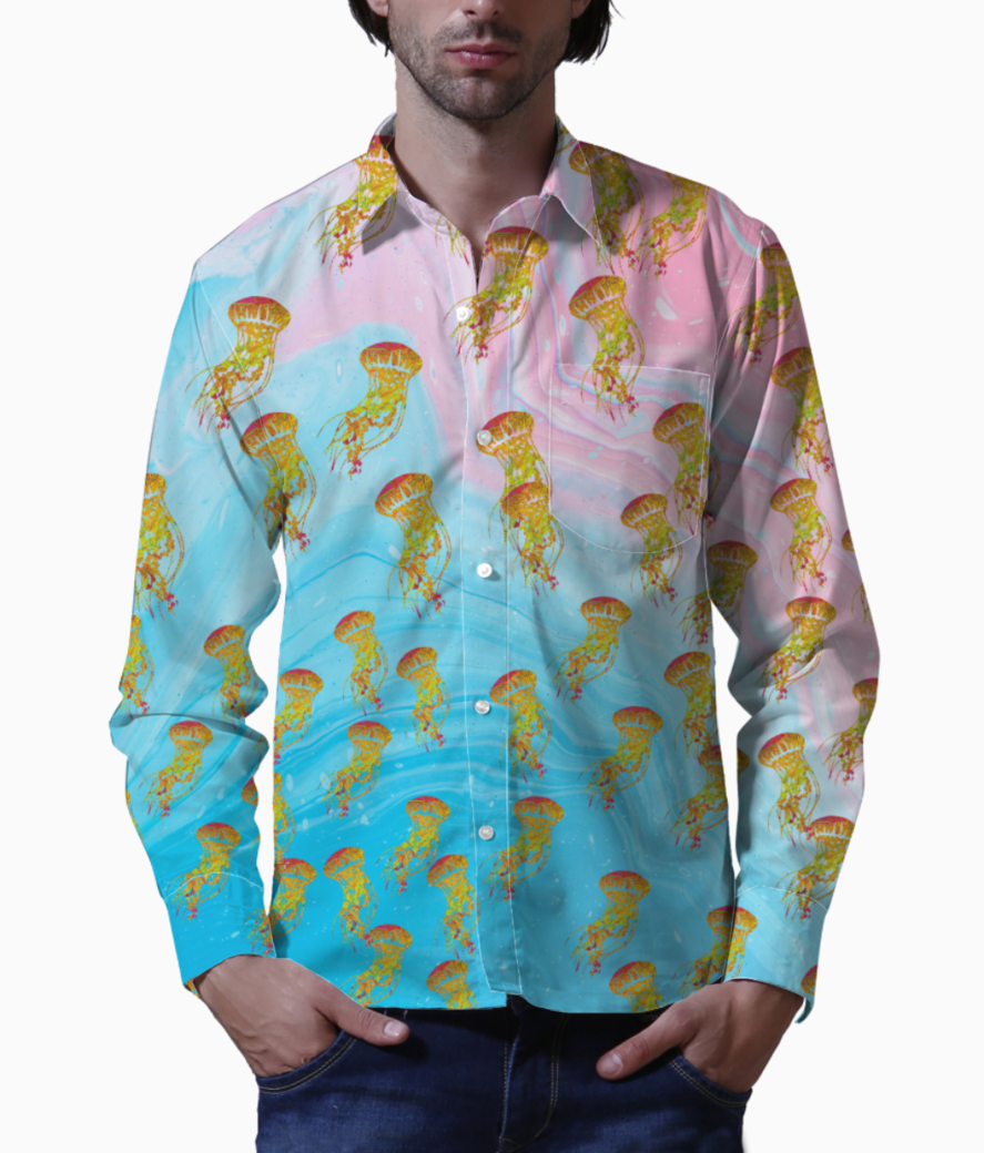 Jelly dance flow basic shirt front