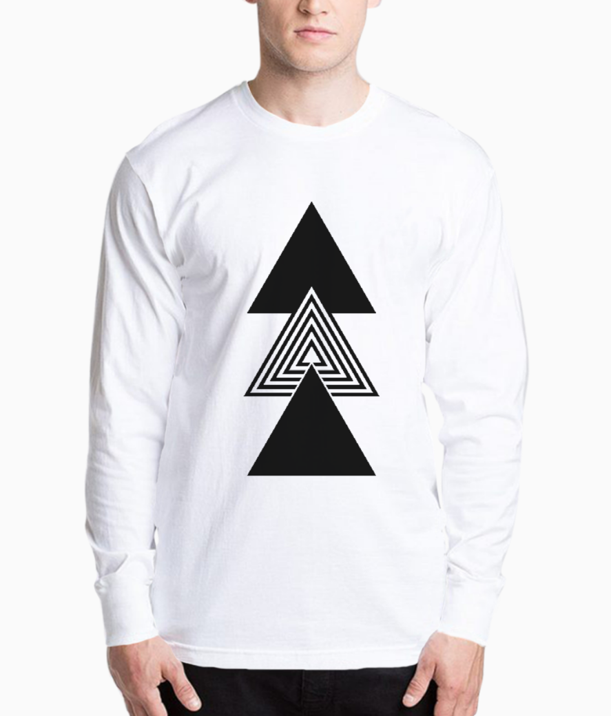 Abstract triple triangle henley front