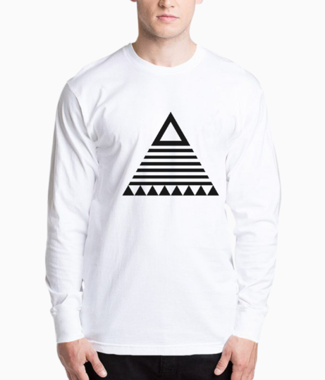 Tribal triangle henley front