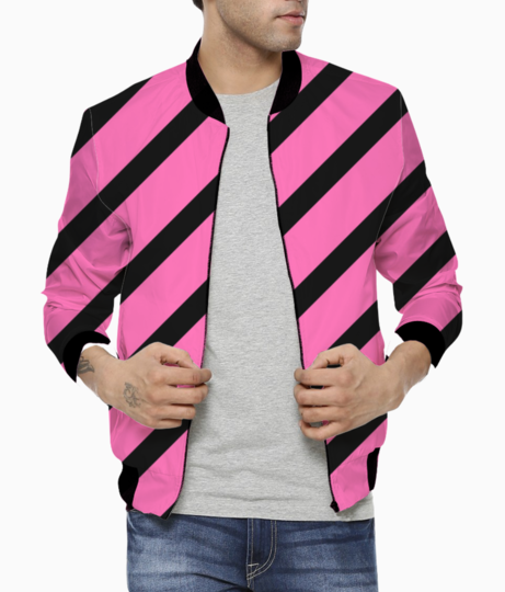 Classic cross hotpink stripes bomber front