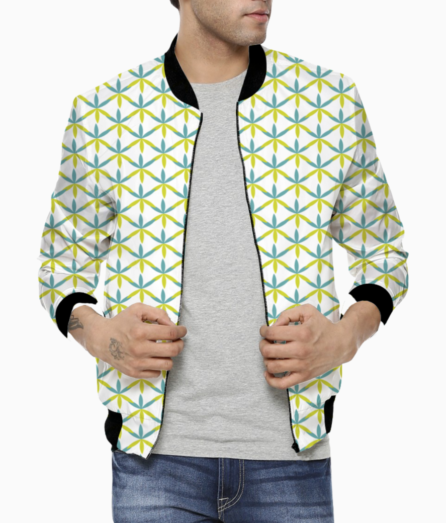 Flower shape seamless pattern bomber front