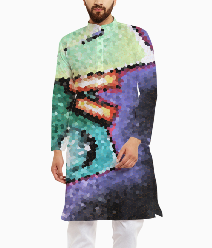 Colored fay kurta front