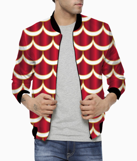Royal mermaid pattern bomber front