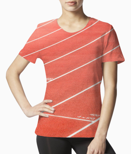 Coral mini tee front