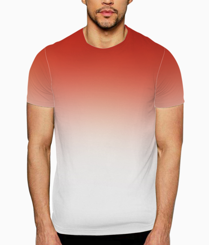 Red to white gradient t shirt front