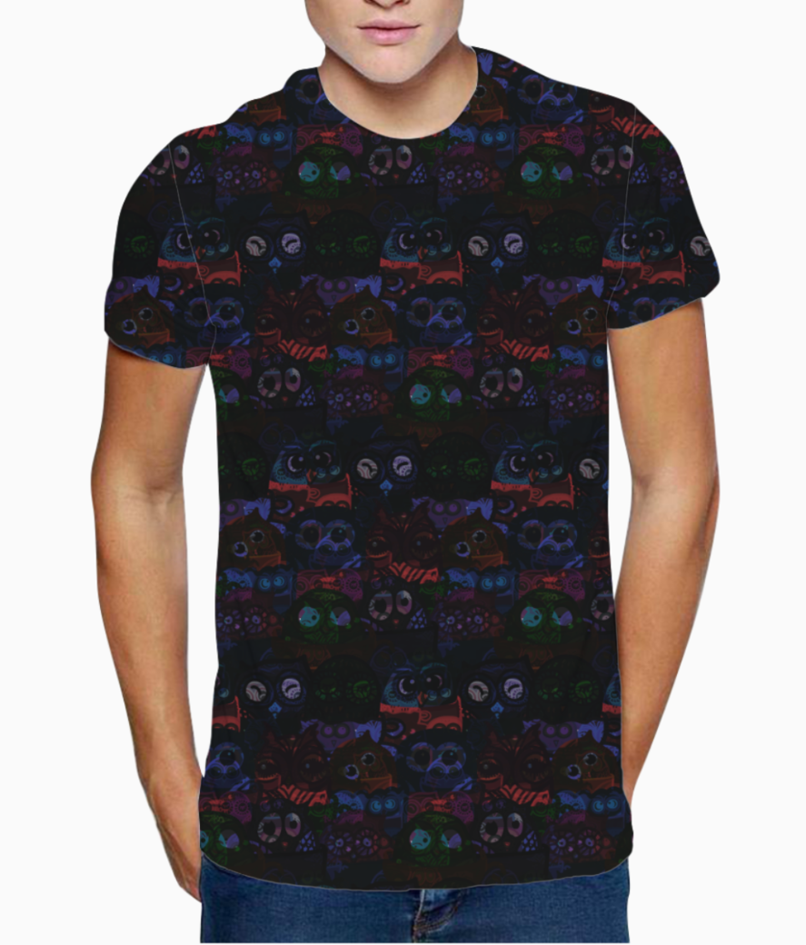 Owl eyes on me t shirt front