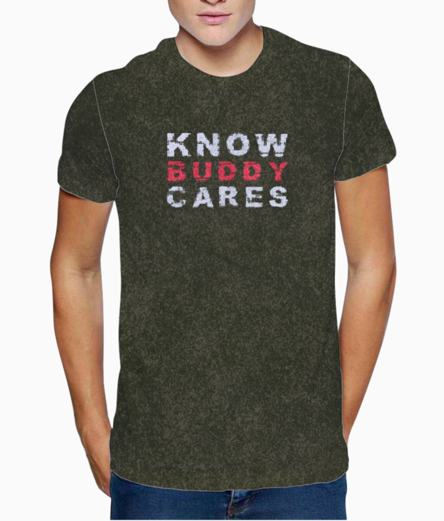 Know buddy cares t shirt front