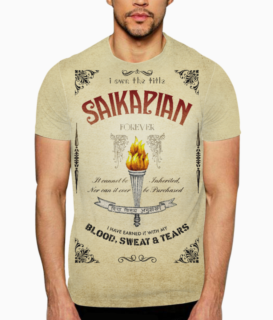 Saikap redesyn front and back t shirt front