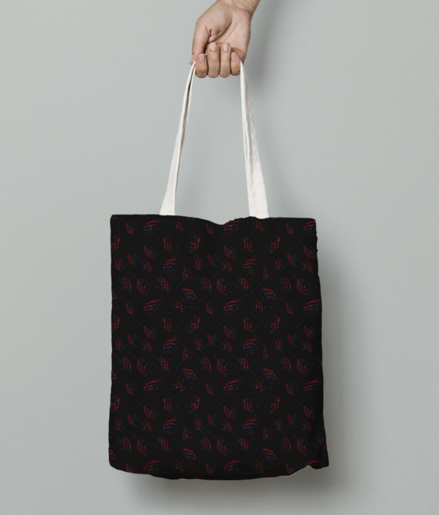 Black magic tote bag front