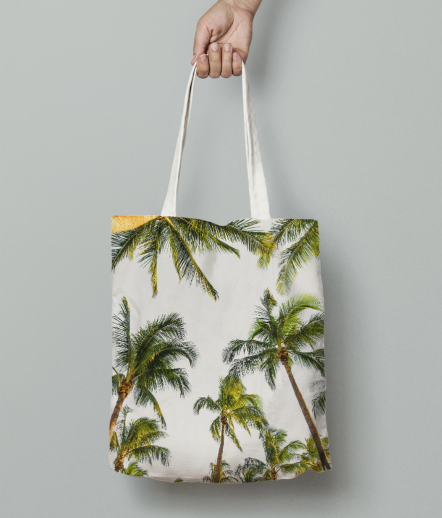 Coconut fall tote bag front