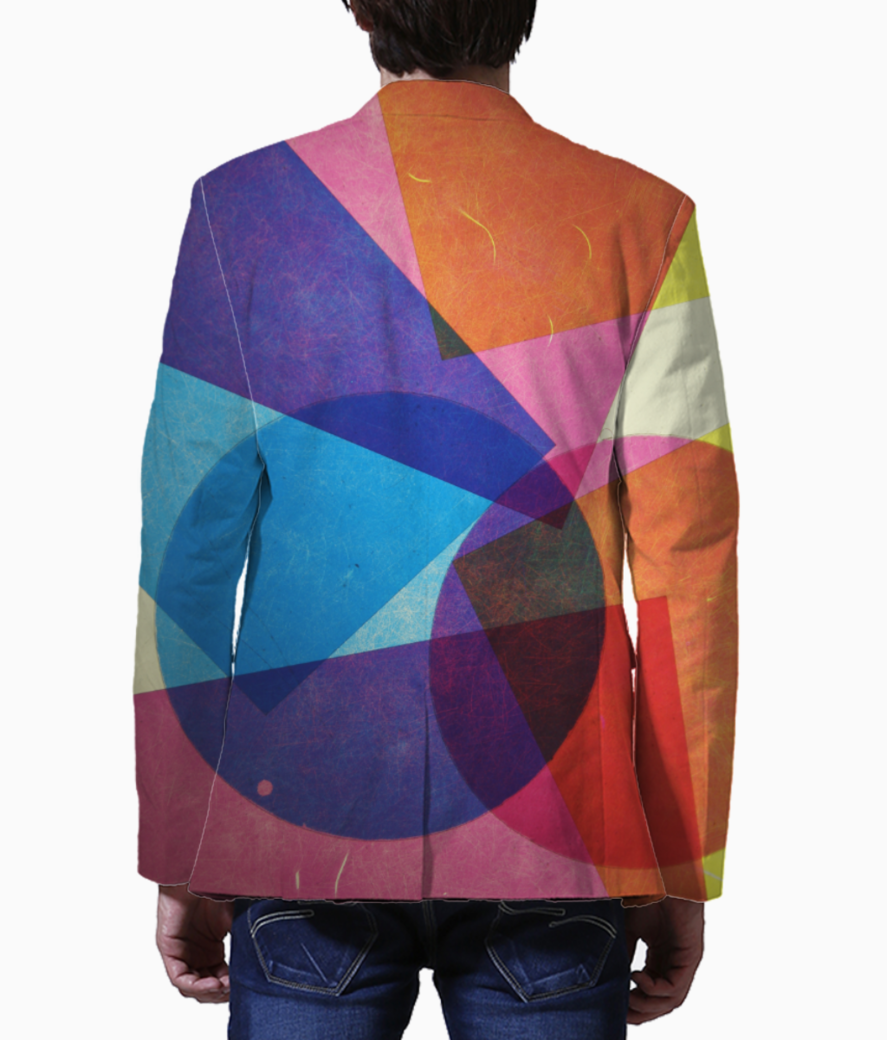 Colour shapes blazer back