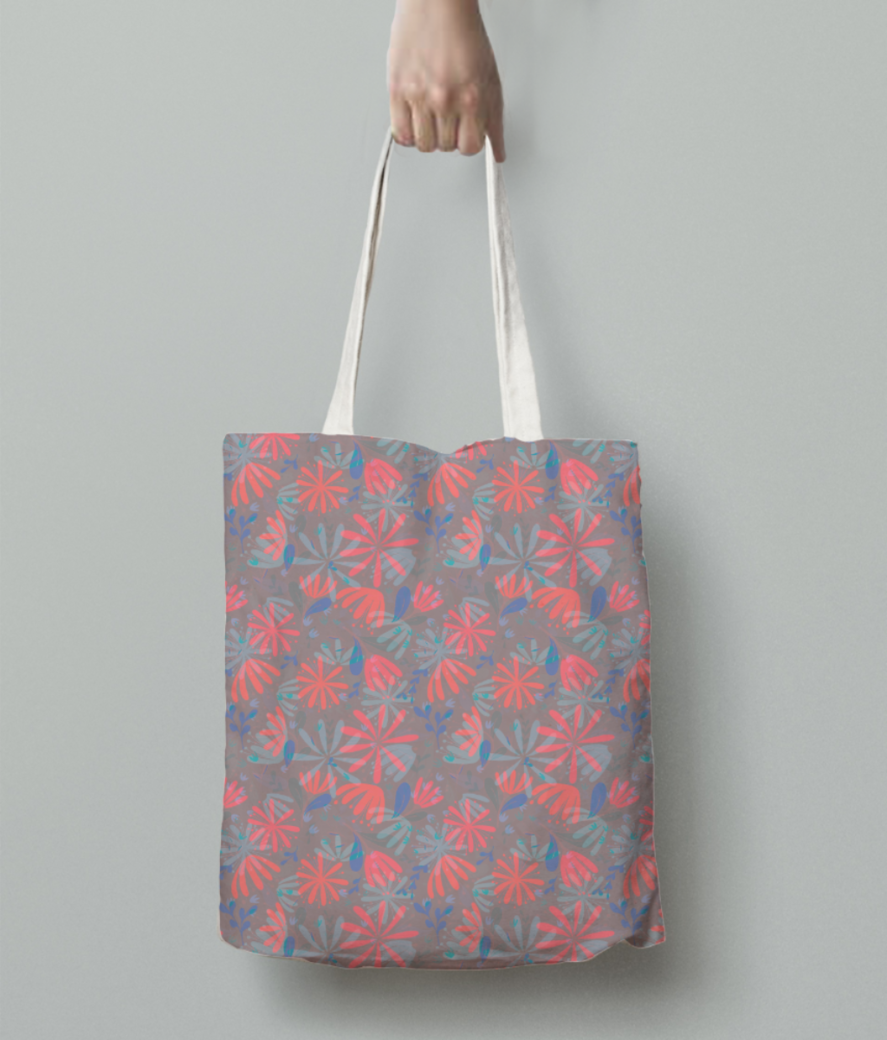 Flowers in heaven tote bag back