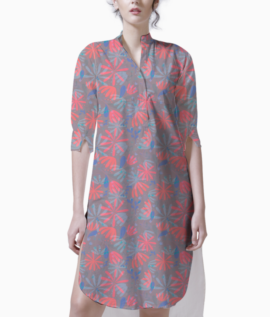 Flowers in heaven kurti front