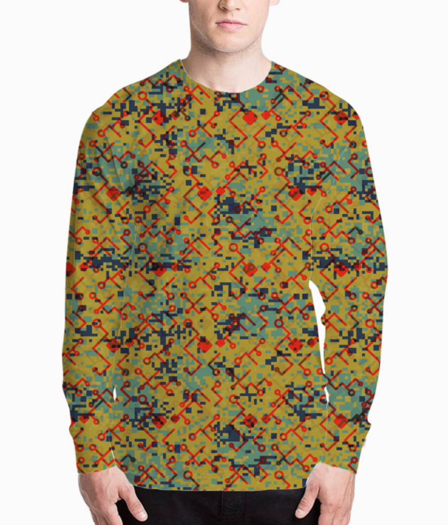 Camouflaged technology henley front