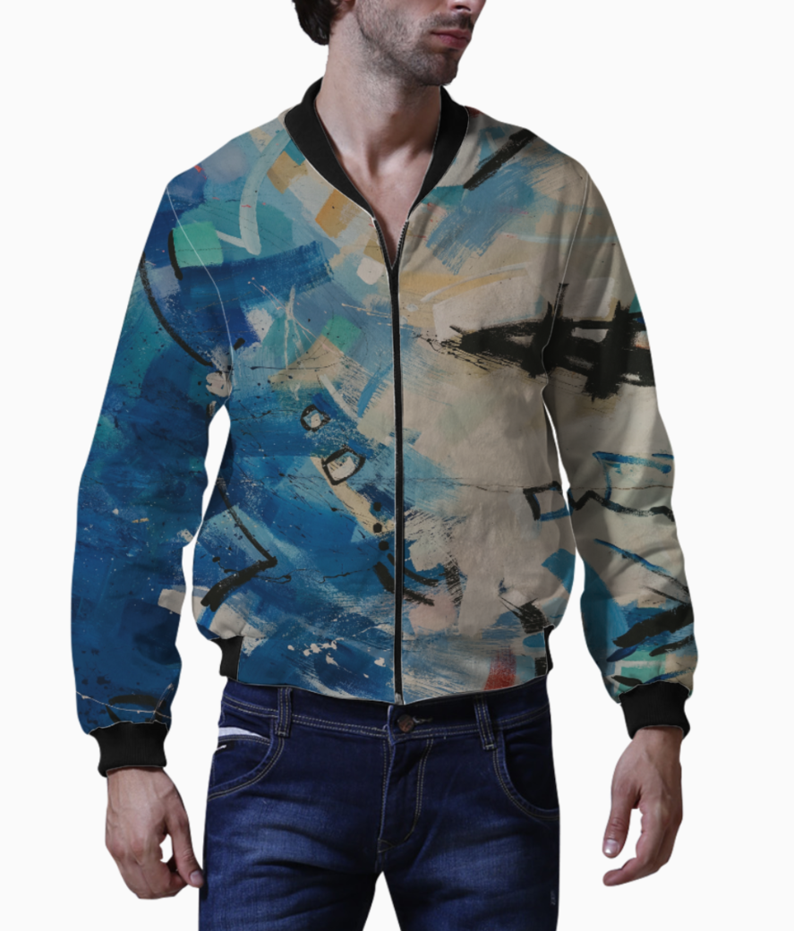Blue dancing moves bomber front